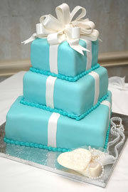 stacked cake with rolled fondant icing